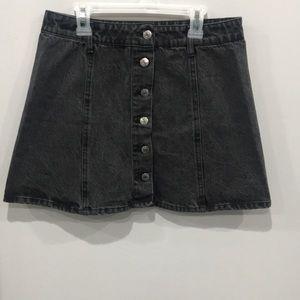 Forever21 gray denim button up mini skirt